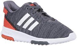 adidas Kids CF Racer TR Running Shoe, Black/White/Raw Amber,