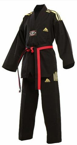 Adidas Champion TKD Uniform Black V-neck with 3 Stripes
