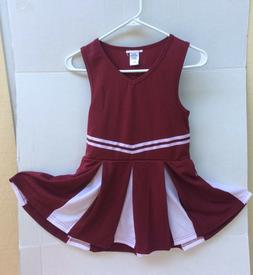 cheerleading uniform dress printable girls maroon/white size