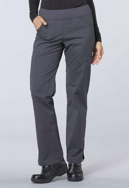 Cherokee WW Professionals Mid Rise Straight Leg Pull-on Carg