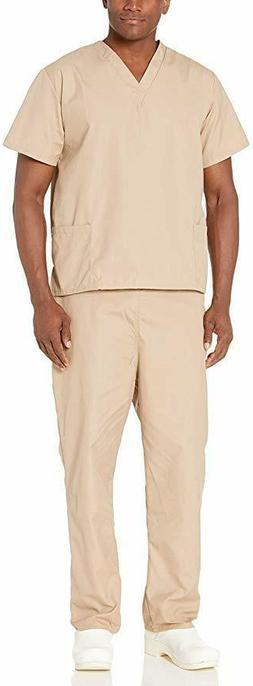 Natural Uniforms Comfortable Fit Men's Scrub Set Medical Scr