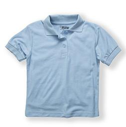 Genuine Uniforms Boys Cotton Pique Polo knit Top  in Lt. Bl