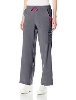 Carhartt Women's Cross-Flex Utility Scrub Pant, Pewter, X-La