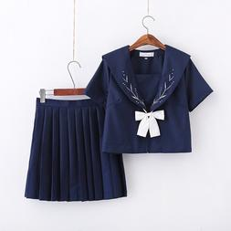 Dark Blue Japanese High School <font><b>Uniform</b></font> J