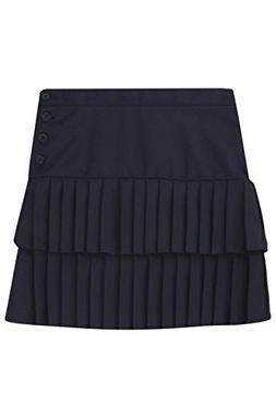 French Toast Double Pleated Scooter Girls Navy 14