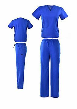 DSF Medical Uniform Women Men Scrub Set Top and Cargo Pants