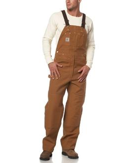 Carhartt Duck Bib Overall / Unlined - Men's Carhartt Brown,