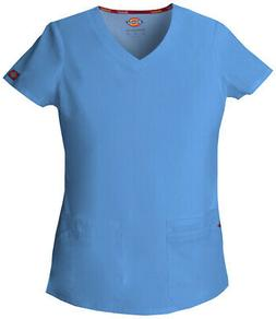 Dickies EDS 85906 Women's Jr. Fit V-Neck Top Medical Uniform