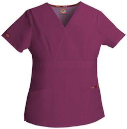 Dickies EDS 86806 Women's Mock Wrap Top Medical Uniforms Scr