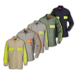 Enhanced Visibility Work Shirts Reflective REED Long Sleeve