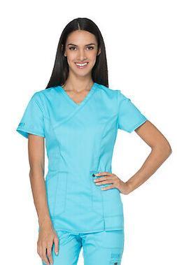 Dickies Essence DK804 Women's Mock Wrap Top Medical Uniforms
