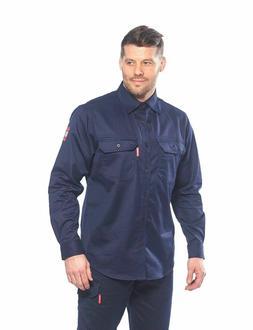 Portwest FR89 Fire Resistant Safety Work Shirt in FR Bizflam