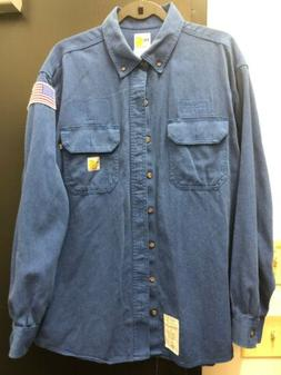 Carhartt Fire Resistant Uniforms Work Clothes Long Sleeve Sh