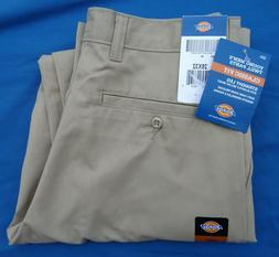 Dickies Men's Flat Front Pant, Khaki, 42X30