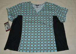 Cherokee Flexibles 2875 Women's V-Neck Knit Panel Top Medica
