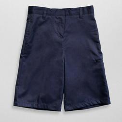 French Toast Boys Husky Dress Shorts - Navy School uniforms