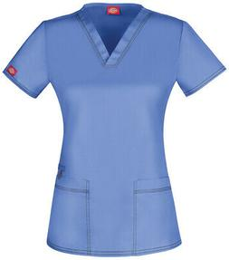 Dickies Gen Flex DK800 Women's V-Neck Top Medical Uniforms S