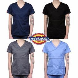 Dickies Gen-Flex Women's MockWrap  Medical Uniform  V-Neck T
