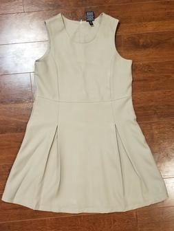 George Girl Khaki Pleated School Uniform Dress Size 14