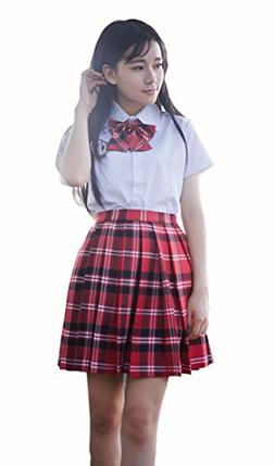Beautifulfashionlife Girl`s School Uniform Costumes Plaid Pl