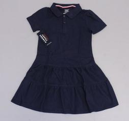 French Toast Girl's Short Sleeve Polo Uniform Dress SV3 Navy
