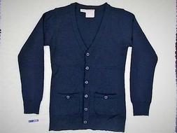 Girls Izod $34 Navy Uniform Cardigan Sweater Size 7/8 - 18