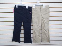 Girls Nautica $36 Khaki or Navy Skinny Boot Cut Adj. Waist U