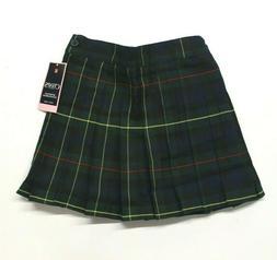 Girls 4-16 Chaps Approved School Uniform Plaid Skirt  Hunter