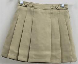 Chaps Girls Approved Schoolwear Khaki Pleated Skort Size 14
