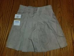 Girls Arrow Approved Schoolwear School Uniform Khaki Skirt S
