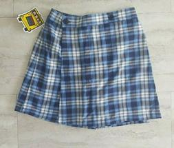 Sunshine School Uniforms Girls Blue White Plaid Skort NWT Ne