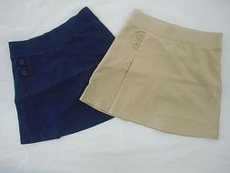 Girls Cat & Jack Navy & Khaki 2-Button Side Uniform Skorts S