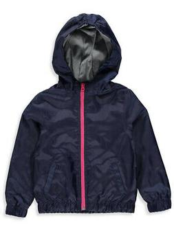 French Toast Girls' Hooded Rain Jacket