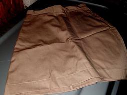 Girls Khaki Omega Cotton Blend Everyday/ School Uniform Skir