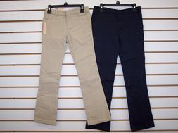 Girls Dockers Navy or Khaki Skinny Stretch Bootcut Uniform P