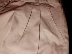 Girls Pants Khaki Omega Cotton Blend Pleated Everyday/School