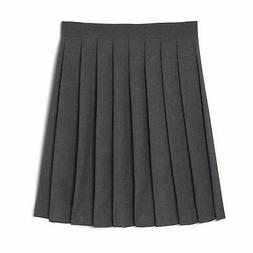 French Toast  Girls' Pleated Skirt, Heather Gray, 4,Little G