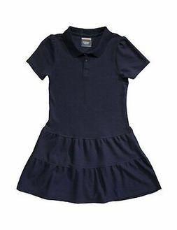 French Toast Girls' Ruffled Pique Dress
