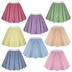 Girls School GINGHAM Skirt Check Summer Dress Uniform 4 - 15