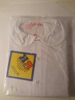 Girls School Uniform Long Sleeve White Blouse Peter Pan Coll