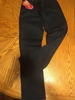 Dickies Girls School Uniform Pants Stretch Slim Fit Beige Na