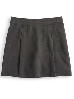 Wonder Nation Girls School Uniform Pleated Scooter Skirt, Bl