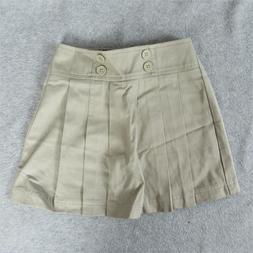 Arrow Girls School Uniform Scooter Skirt Khaki Skort Pleated