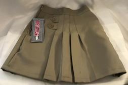 Girls School Uniform Skirt/Skort Girls Sz 5 Khaki Tan Cotton