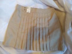 Girls Justice School Uniform Skirt Skorts Sz 16 NWT Tan Khak