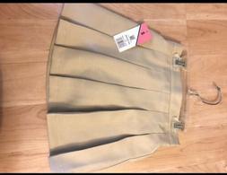 Izod Girls School Uniform Skort Skirt Pleated Size 6 Regular