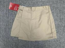 Dickies Girls School Uniform Wrap Skort Skirt-Shorts Side Zi