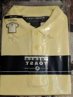 FRENCH TOAST GIRLS SCHOOL UNIFORM YELLOW S.S.POLO SHIRT SIZE