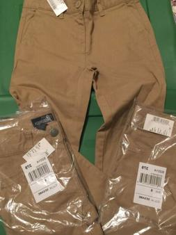 Girls School Uniforms Khaki's 3 pant set size 6