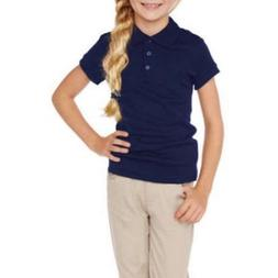 George Girls School Uniforms Short Sleeve Polo Shirt 4-5, 6-